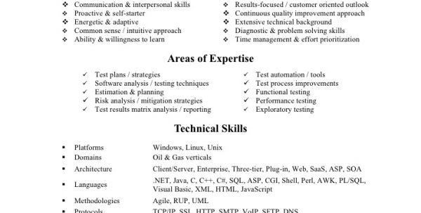 ... Quality Assurance Resume Objective Assurance Resume Example, 15    Automation Tester Cover Letter ...