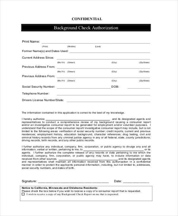 Check Example How To Write A Check Step By Step Explanation - background check consent forms