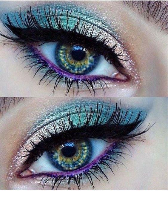 I like this purple eye line
