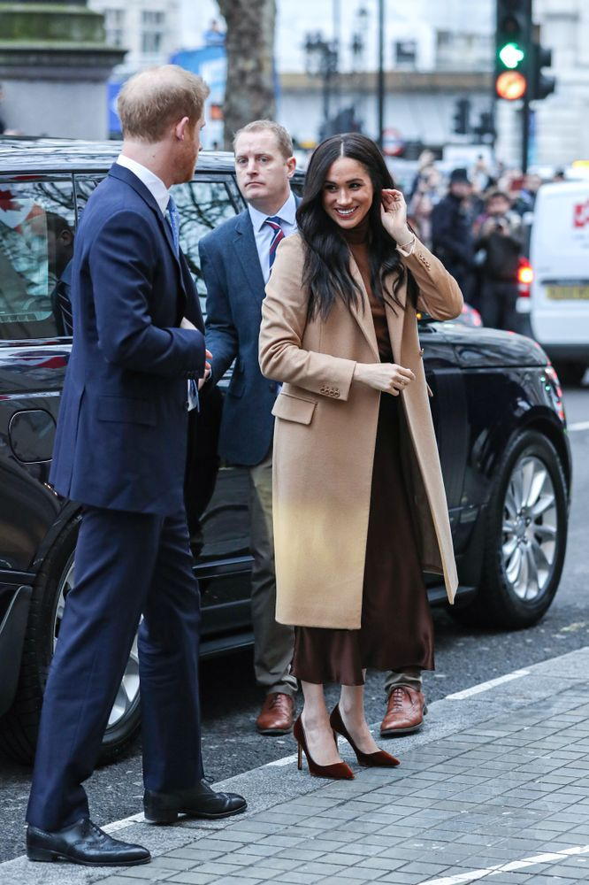 Meghan Markle Makes A Case For Tonal Dressing In Her First Public Appearance In 2020