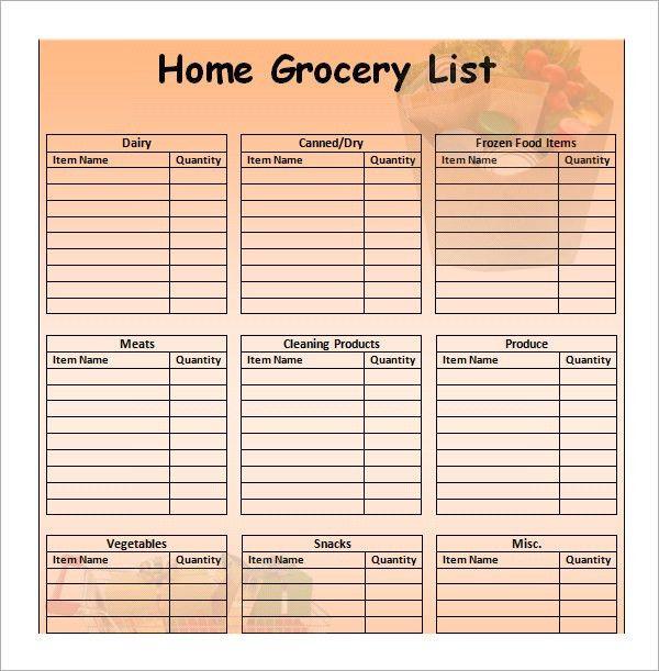 food list samples efficiencyexperts - grocery list sample