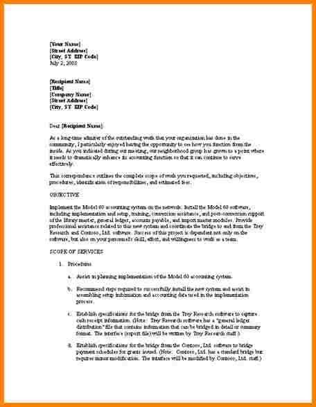 Example Proposal Letter 32 Sample Business Proposal Letters - business proposal letter sample