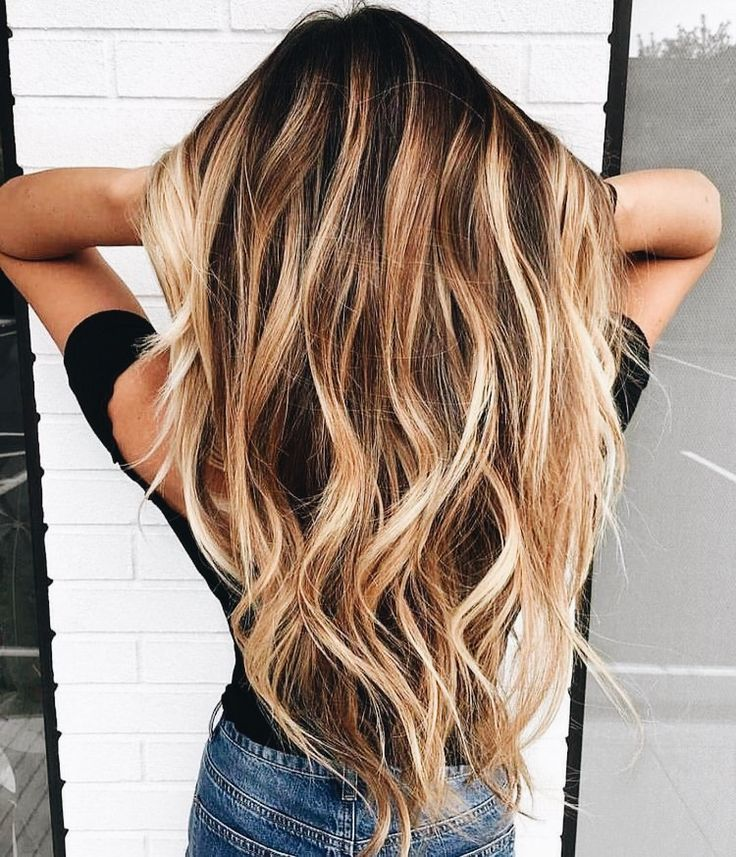 Caramel and Honey Balayage with Waves
