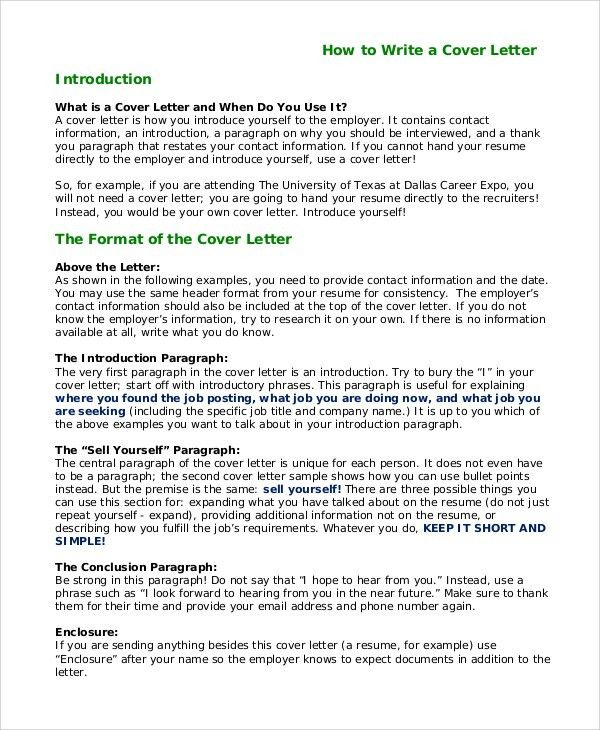 Resume Cover Letter Introduction Template For Cover Letter - cover letter intro