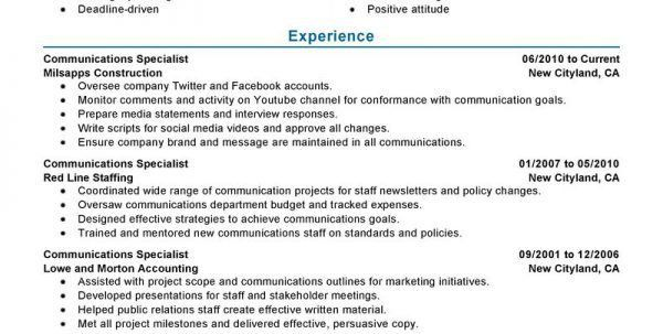 communications specialist resume communications specialist resume