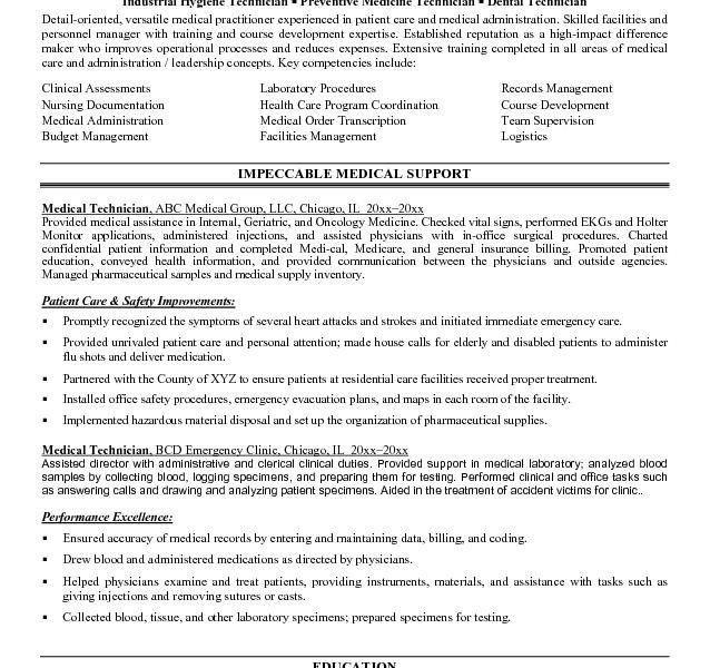 Medical Records Technician Resume Sample Clerical Resume Stock - medical technician resume
