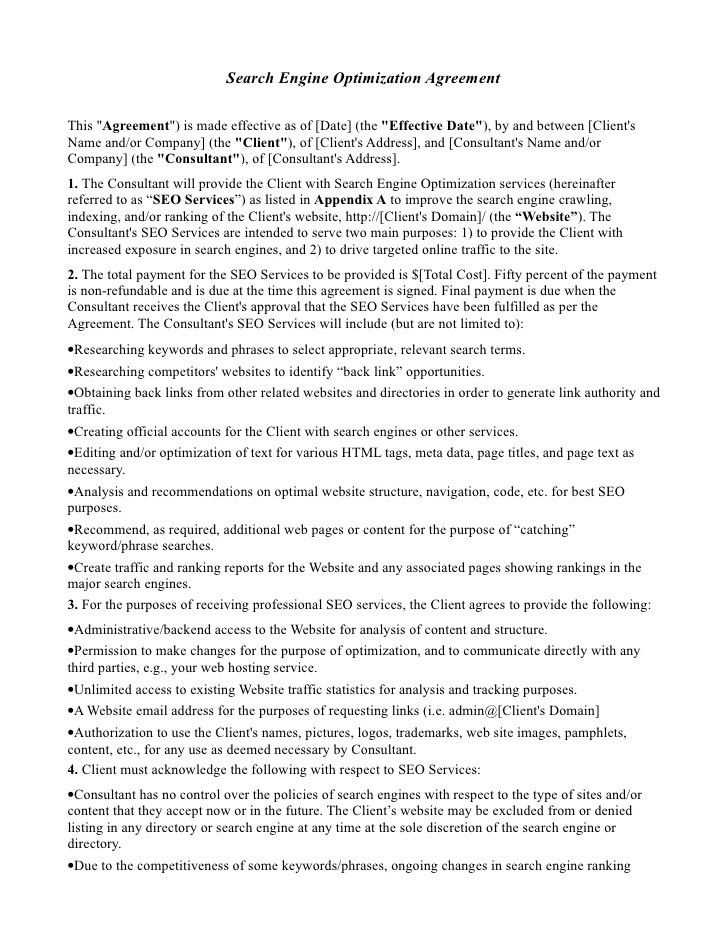 Service Contract Sample Format Contract Template For Services - consulting agreement examples