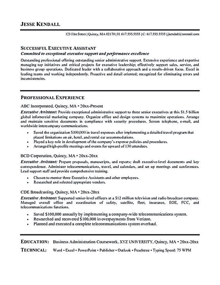 example of resume for applying job