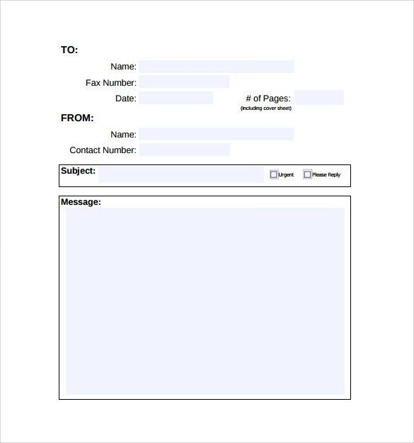 Blank Fax Cover Page Free Fax Cover Sheet Template Printable Fax - sample cute fax cover sheet