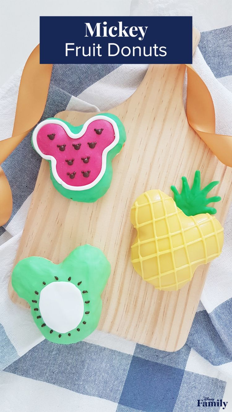Who can resist a soft, fluffydonut? These Mickey Fruit Donuts are not only baked to deliciousness but are also fun to make! Whipping up these sweets is an awesome way to celebrate the return of summer. From watermelon to pineapple to kiwi, these tasty treats are perfect for a family picnic. Click for the Mickey donut recipe.