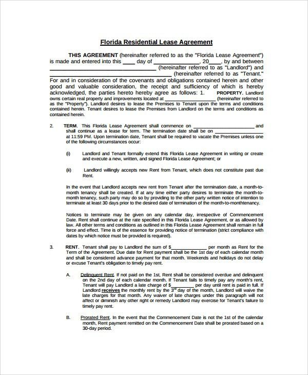Sample Property Lease Agreement Commercial Property Lease - sample house lease agreement