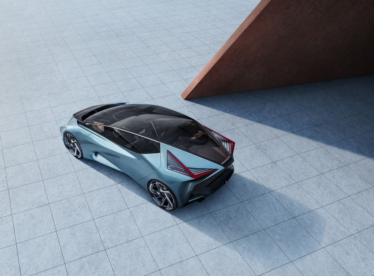 "The Lexus LF-30 Electrified concept proposes automotive accoutrement on another level, equipped with its very own ""drone-technology support vehicle""."