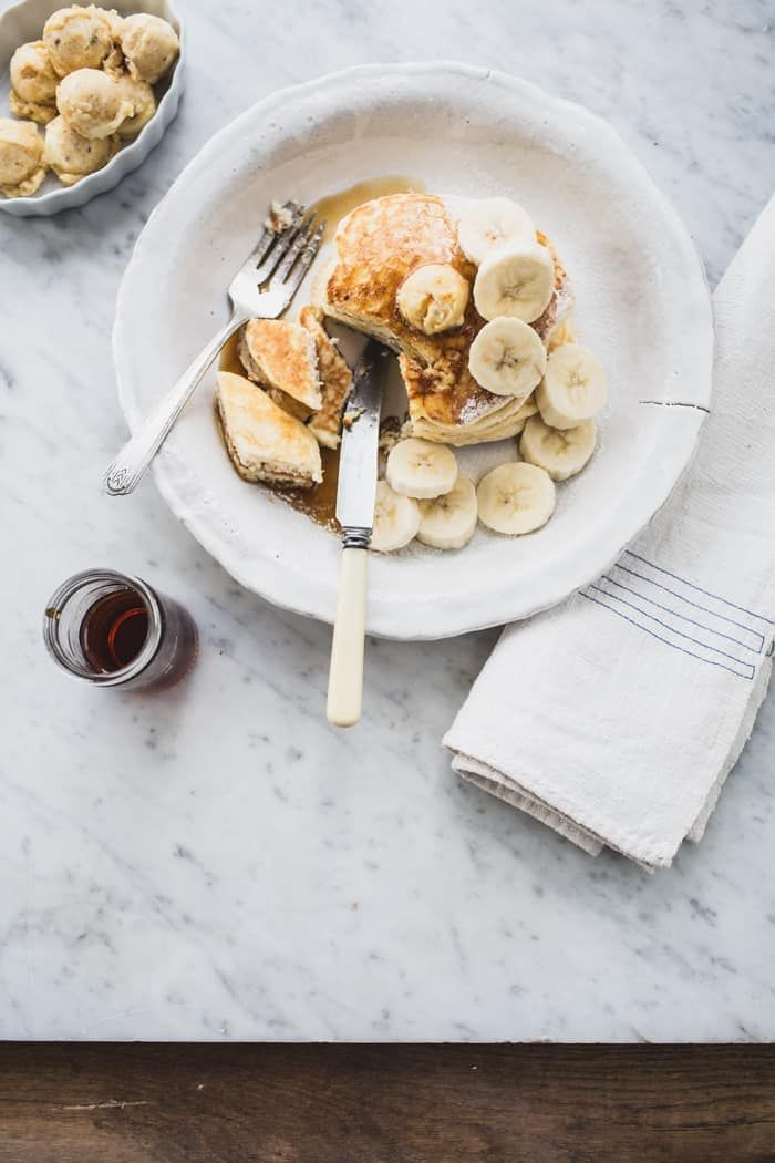 Ricotta Hotcakes with Honeycomb Butter (Granger & Co. Style) - Izy Hossack - Top With Cinnamon