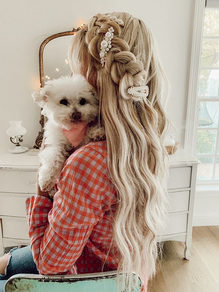 The Wiegands: Hair Tutorial: Half Up Side Braid | Taking a few extra minutes to add some special touches to our hair can help us feel pulled together and more confident, no matter where we're going or what we're doing, and is always worth it. #braids #sidebraid #thewiegands #caseywiegand #hair