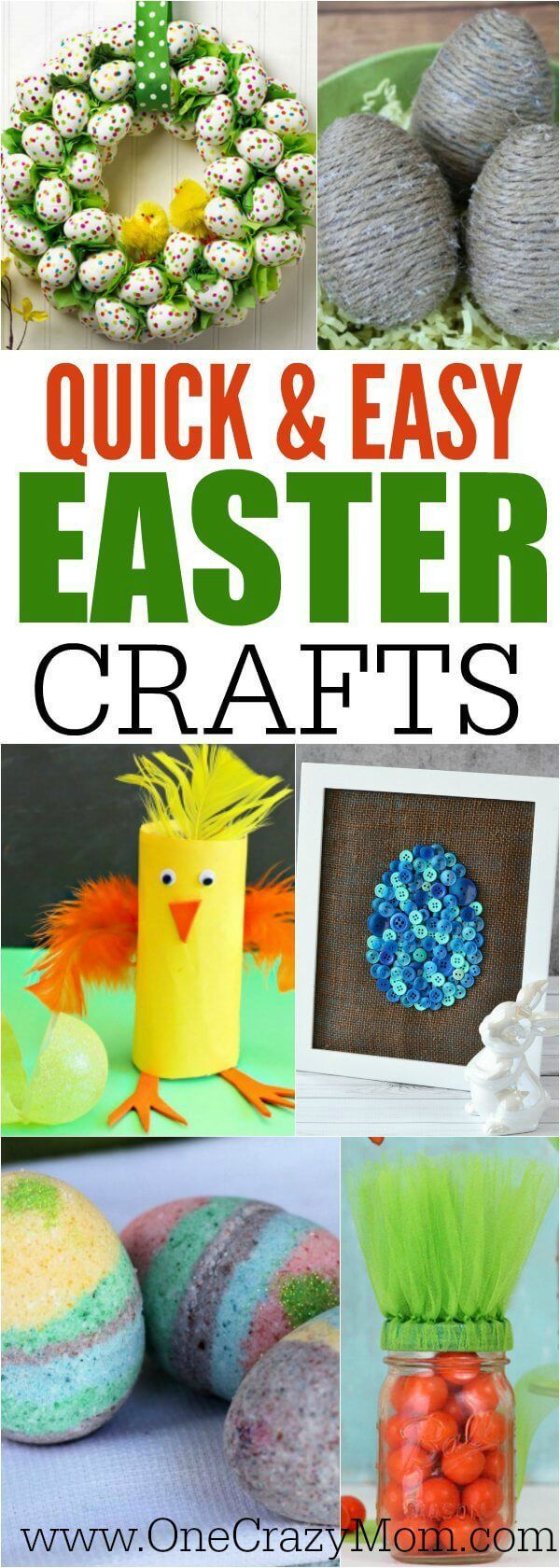 Quick and Easy Easter Crafts - Over 21 Ideas You can Make!