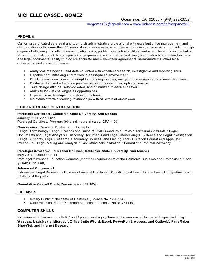 ... Sample Cover Letter Paralegal Best Paralegal Cover Letter   Objective  For Paralegal Resume ...