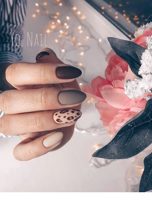 Nice leo nail art