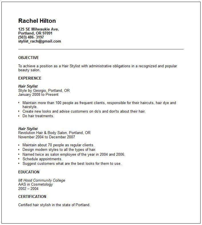 cosmetology resume objective tutornowinfo - resume for cosmetologist