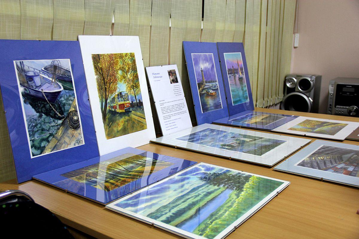 Работы Татьяны на выставке