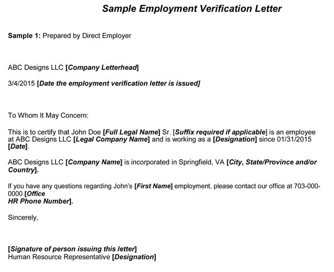 Samples Of Employment Verification Letters 40 Proof Of Employment - employment verification form sample