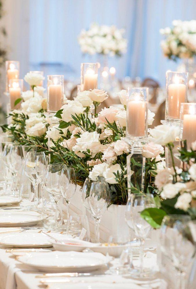 42 White Wedding Decoration Ideas ❤ white wedding decoration ideas wedding candle decor rachelaclingen #weddingforward #wedding #bride