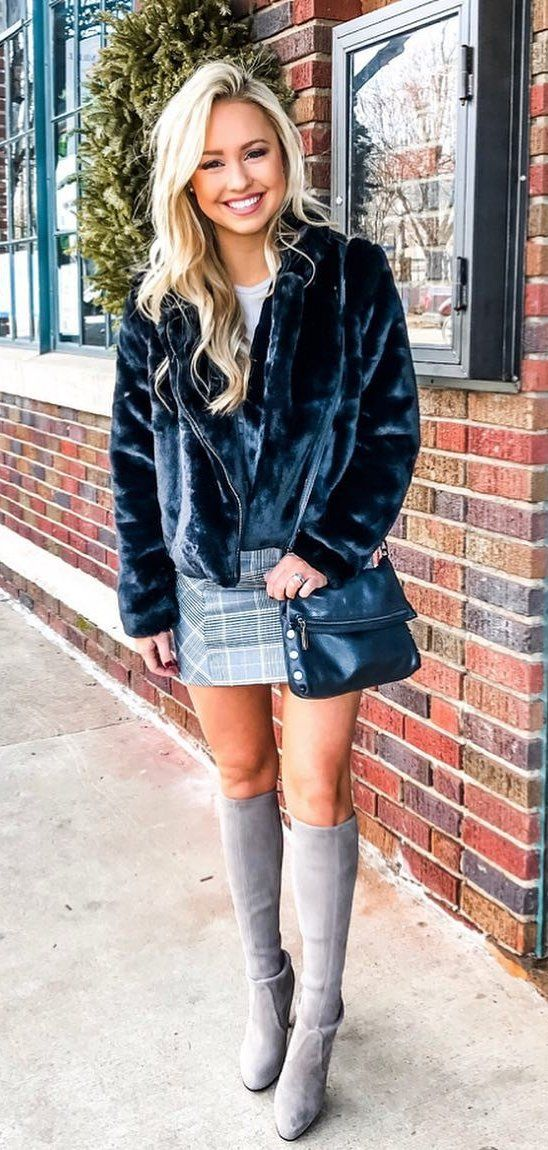 black jacket #spring #outfits