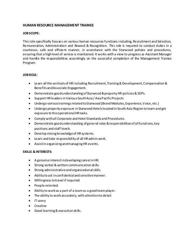 ... Management Trainee Job Description Human Resource Management   Human  Resource Job Description ...