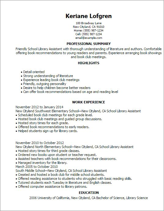 librarian resume examples examples of resumes - Librarian Resume Sample