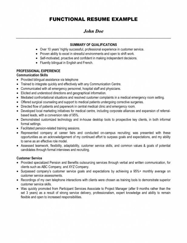 Skills Summary Resume Examples How To Write A Summary Of - summary of qualifications resume examples