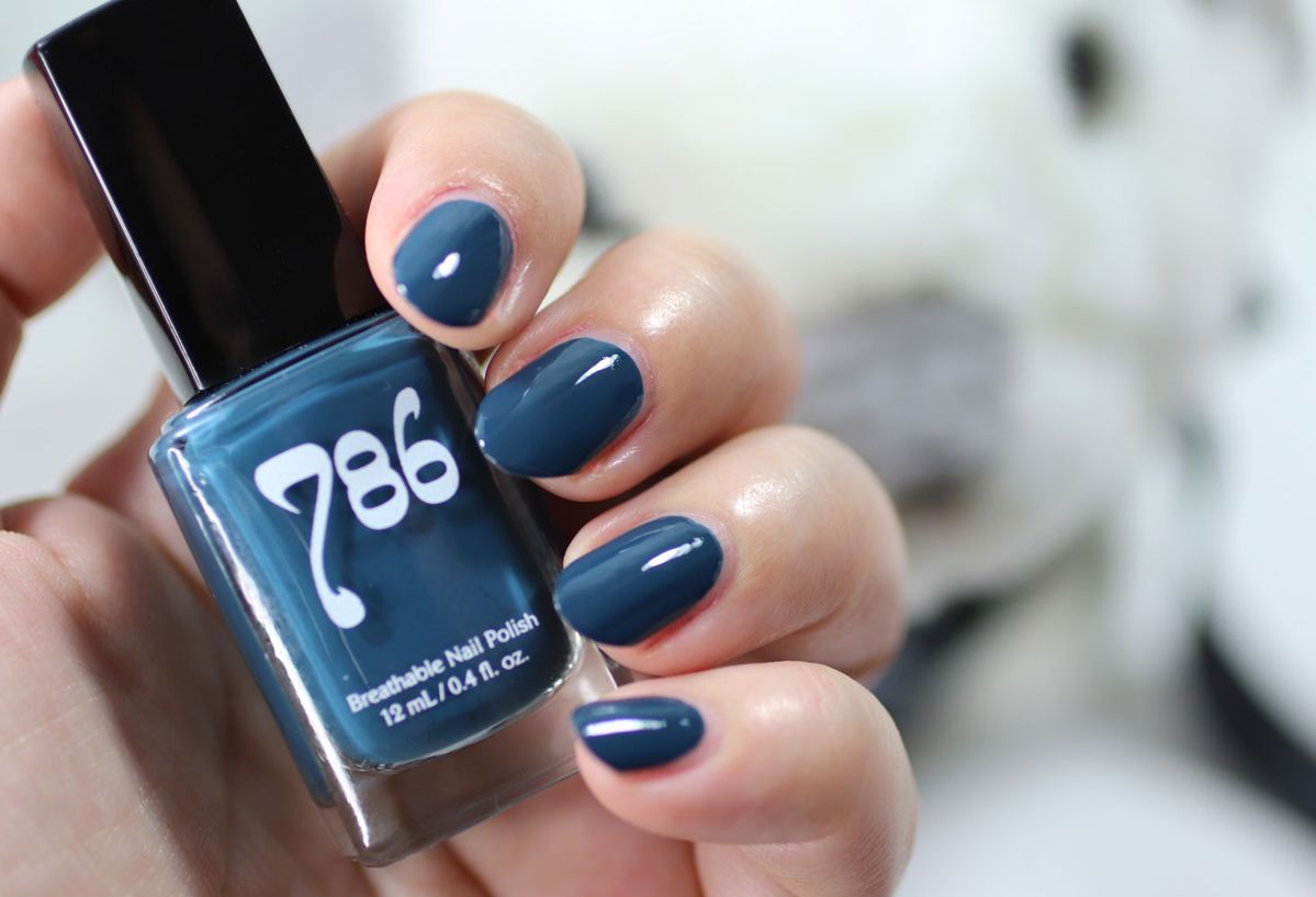AD 786 Cosmetics Breathable Cruelty Free and Vegan Nail Polish Swatch – Chefchaouen #nails #halal #nailpolish #crueltyfree