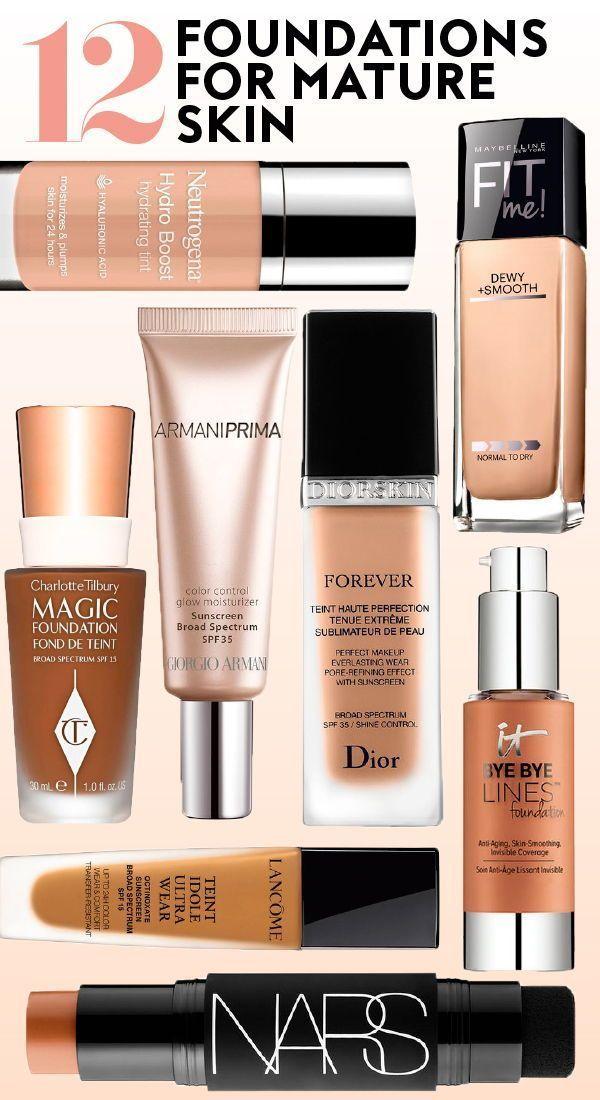 12 #foundations for #matureskin. #skin #bestfoundations #aging #antiaging