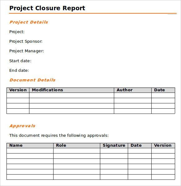 project report template word