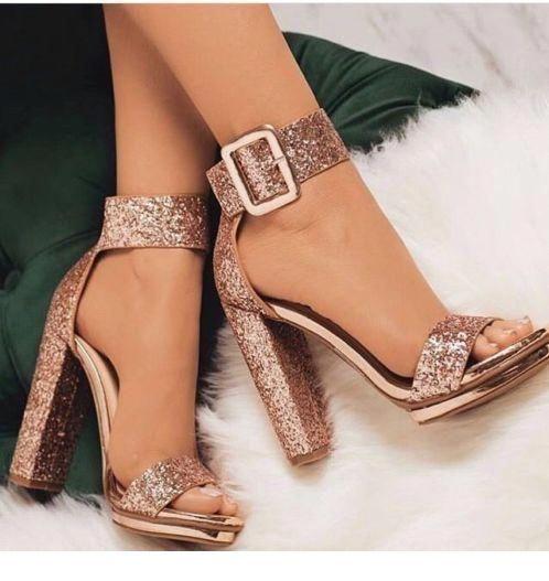 Glam glitter sandals for summer nights