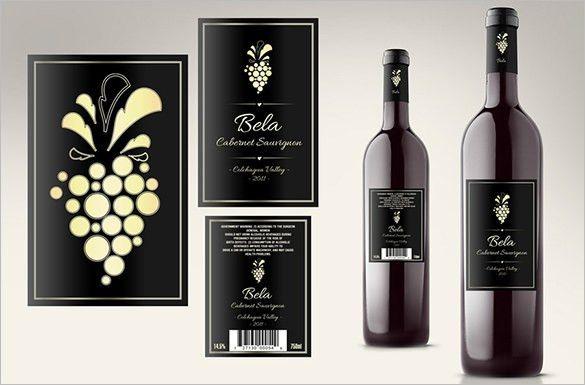Wine Bottle Label Template Wine Bottle Label Template Free - free wine bottle label templates