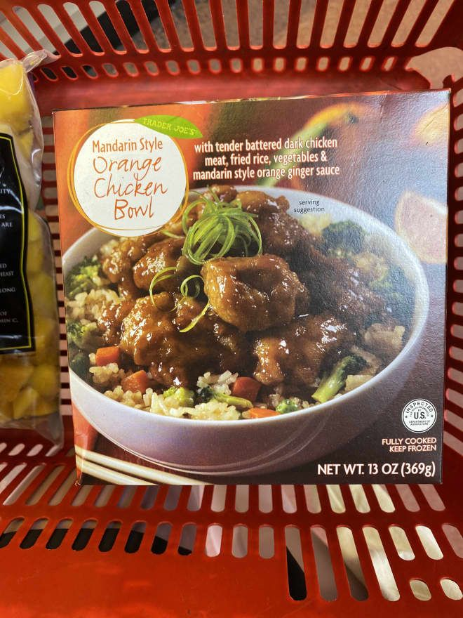 Trader Joe's New Mandarin-Style Orange Chicken Bowl Is Perfect in Every Way