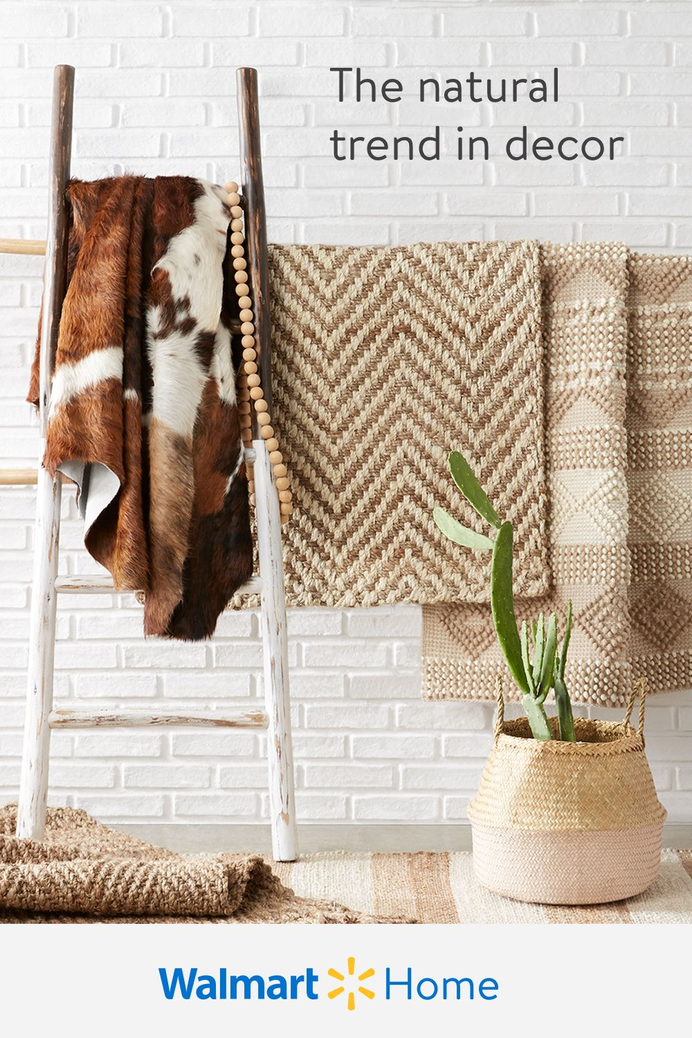 Enliven every room with decor in natural textures, tones, & materials.  Shop Walmart for affordable planters, rugs, textiles, & more for spaces with down-to-earth style.