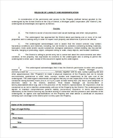 General Release Of Liability Form General Liability Release Of - free release of liability form