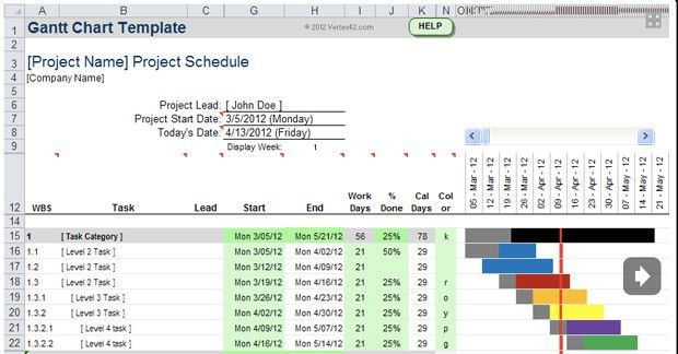 Ms Project Templates Free 4 Best Excel Project Management - project tracking template