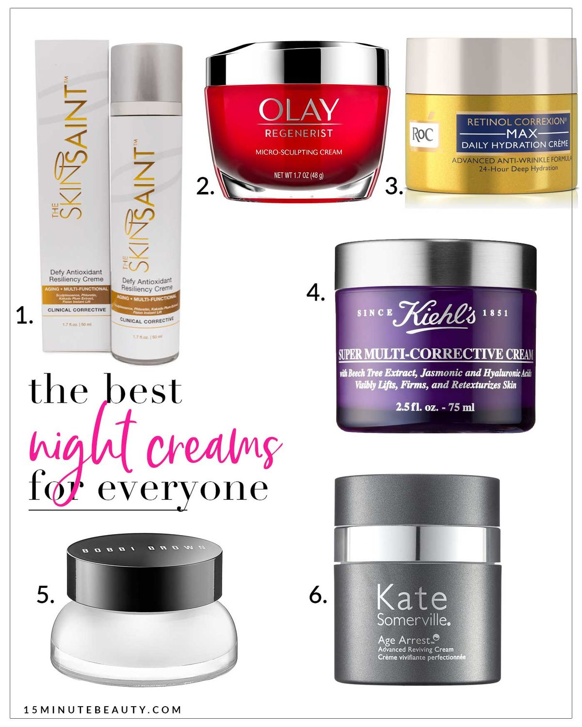 These are the best night creams for antiaging and wrinkles! They target everything but are still gentle enough for anyone to use every night.