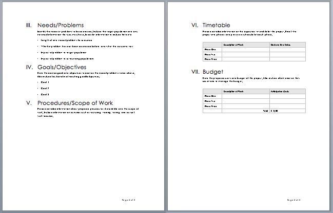 Proposal Template Word Proposal Templates Microsoft Word - proposal template in word