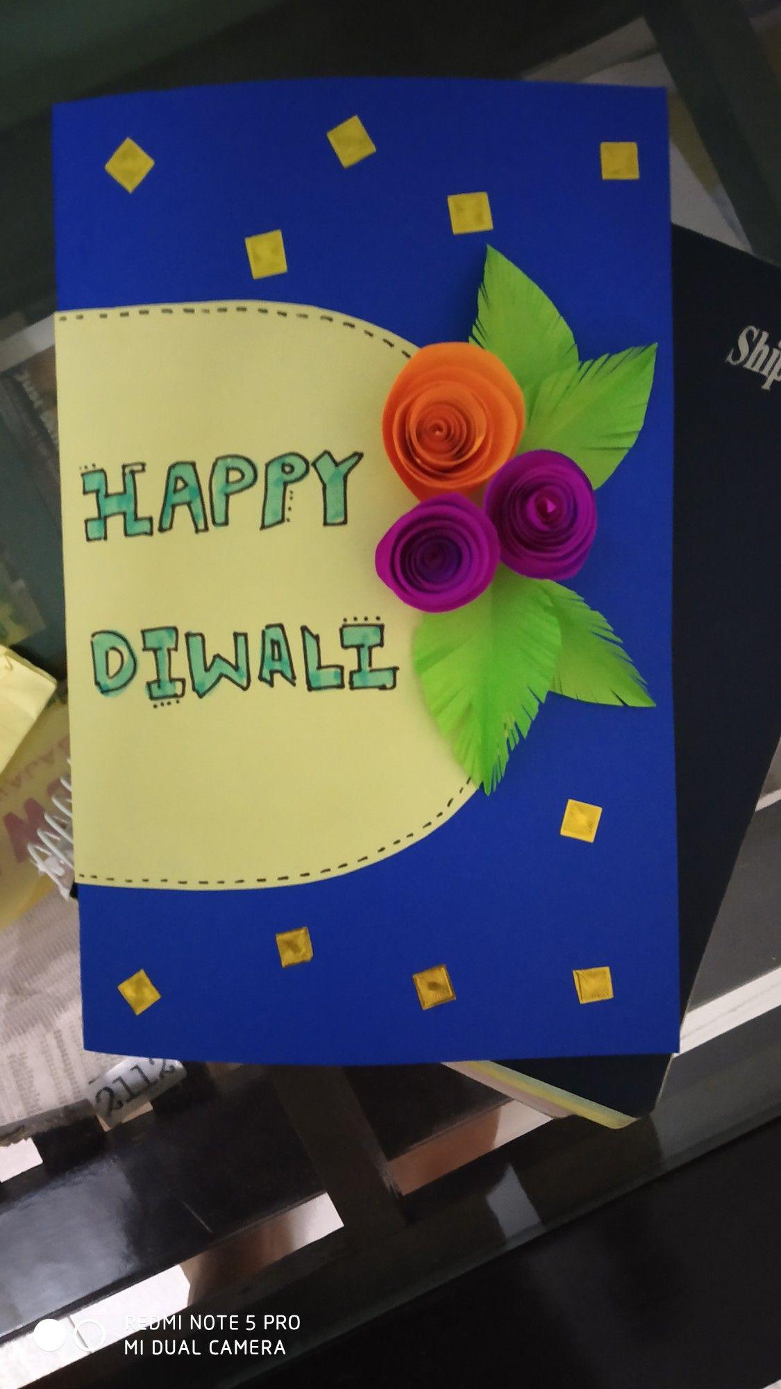 happy diwali card  easy crafts happy diwali crafts