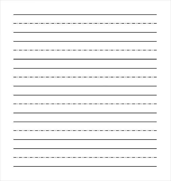 Lined Paper Template Kids | Resume Template.paasprovider.com  Lined Paper Template Kids