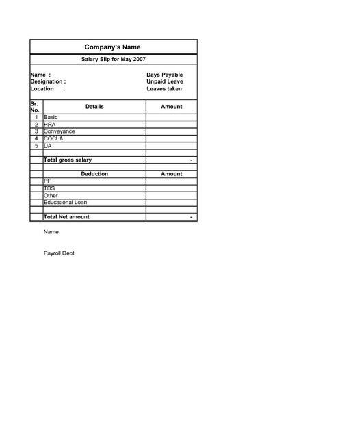 Famous Basic Payslip Template Pictures - Resume Ideas - namanasa - basic payslip template excel