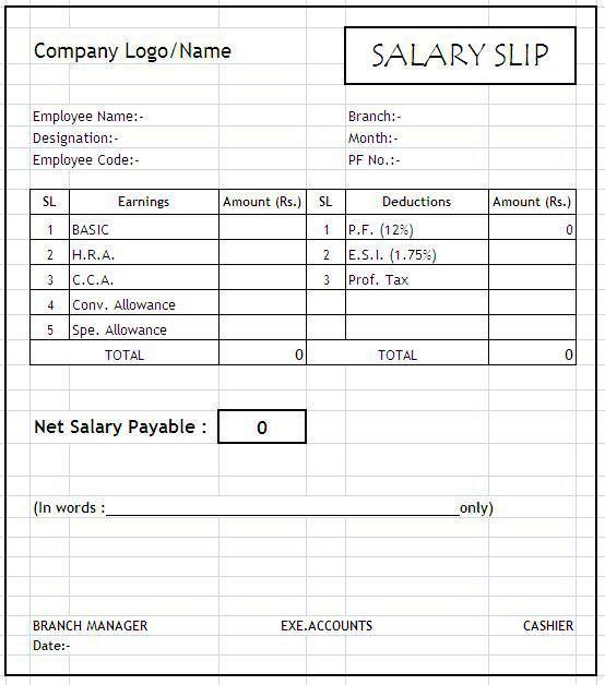 Payslip Sample Template simple payslip employee payslip template – Payslip Sample Format