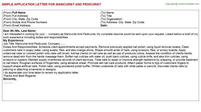 Manicurist Resume Sample Professional Manicurist And Pedicurist