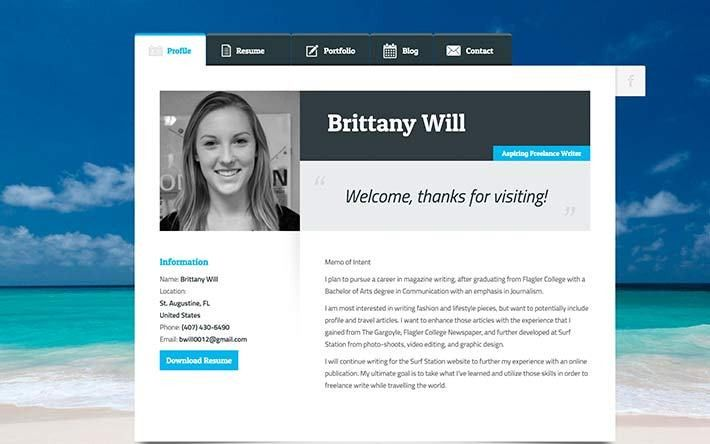 Resume Site Examples 20 Creative Resume Website Templates To - web resume examples