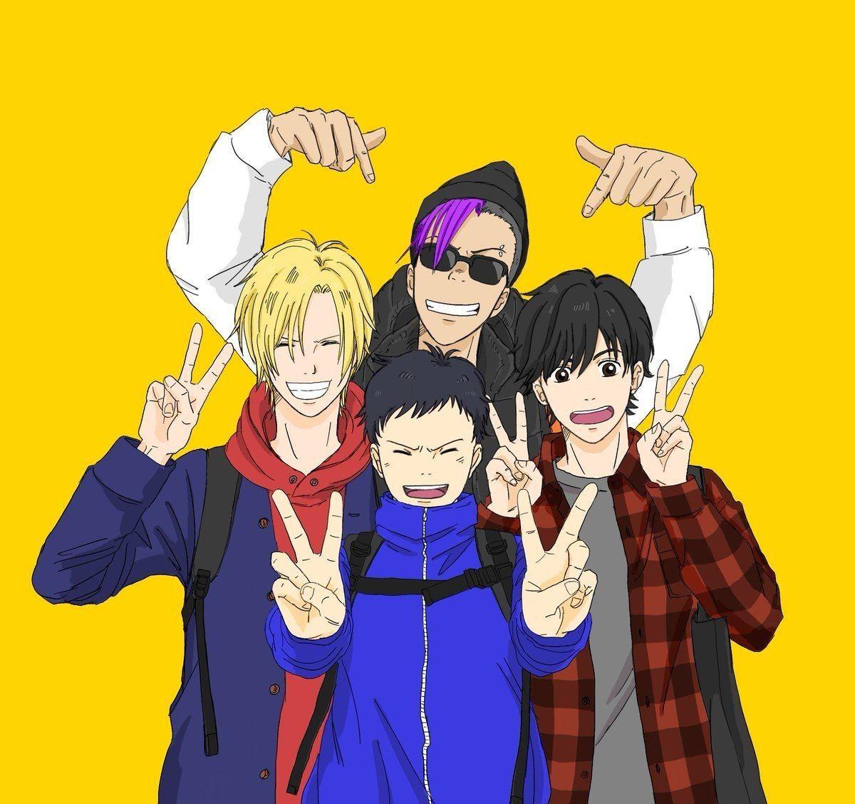 Ash Lynx, Shorter Wong, Sin, Eiji Okimura Anime, Fish