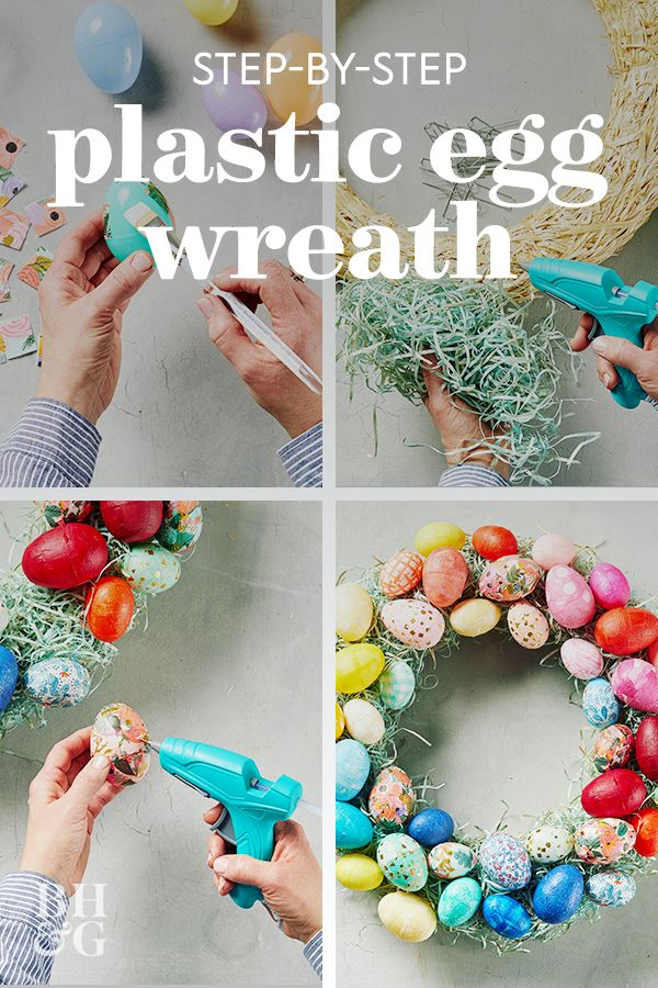 You Would Never Guess This Easter Wreath Is Made from Plastic Easter Eggs
