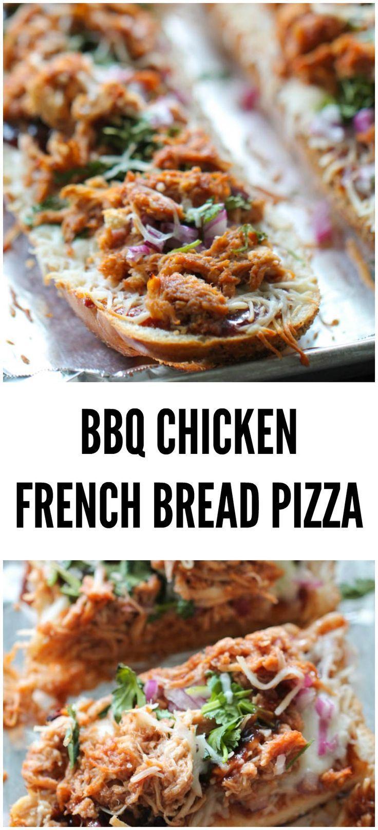 BBQ Chicken French Bread Pizza Recipe