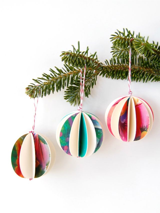 Easy DIY Ornaments made out of old Chrsitmas cards!- C.R.A.F.T. #ChristmasOrnaments